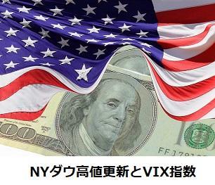 NYダウ高値更新とVIX指数