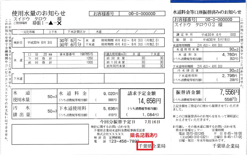 BigBoss 水道料金明細