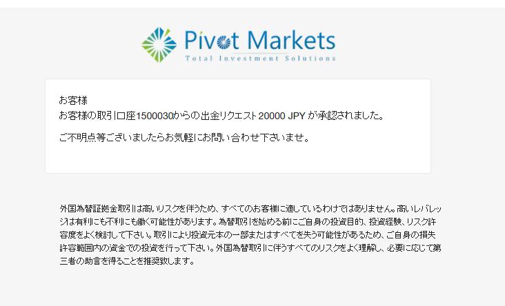 Pivot出金07
