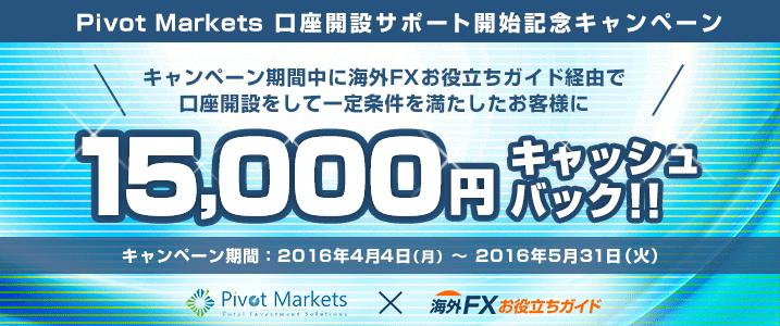 Pivot Marketsキャンペーン