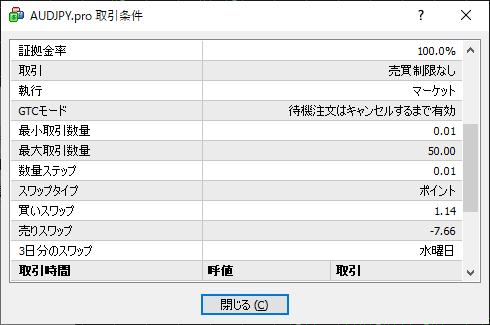 MT4通貨ペア取引条件 02